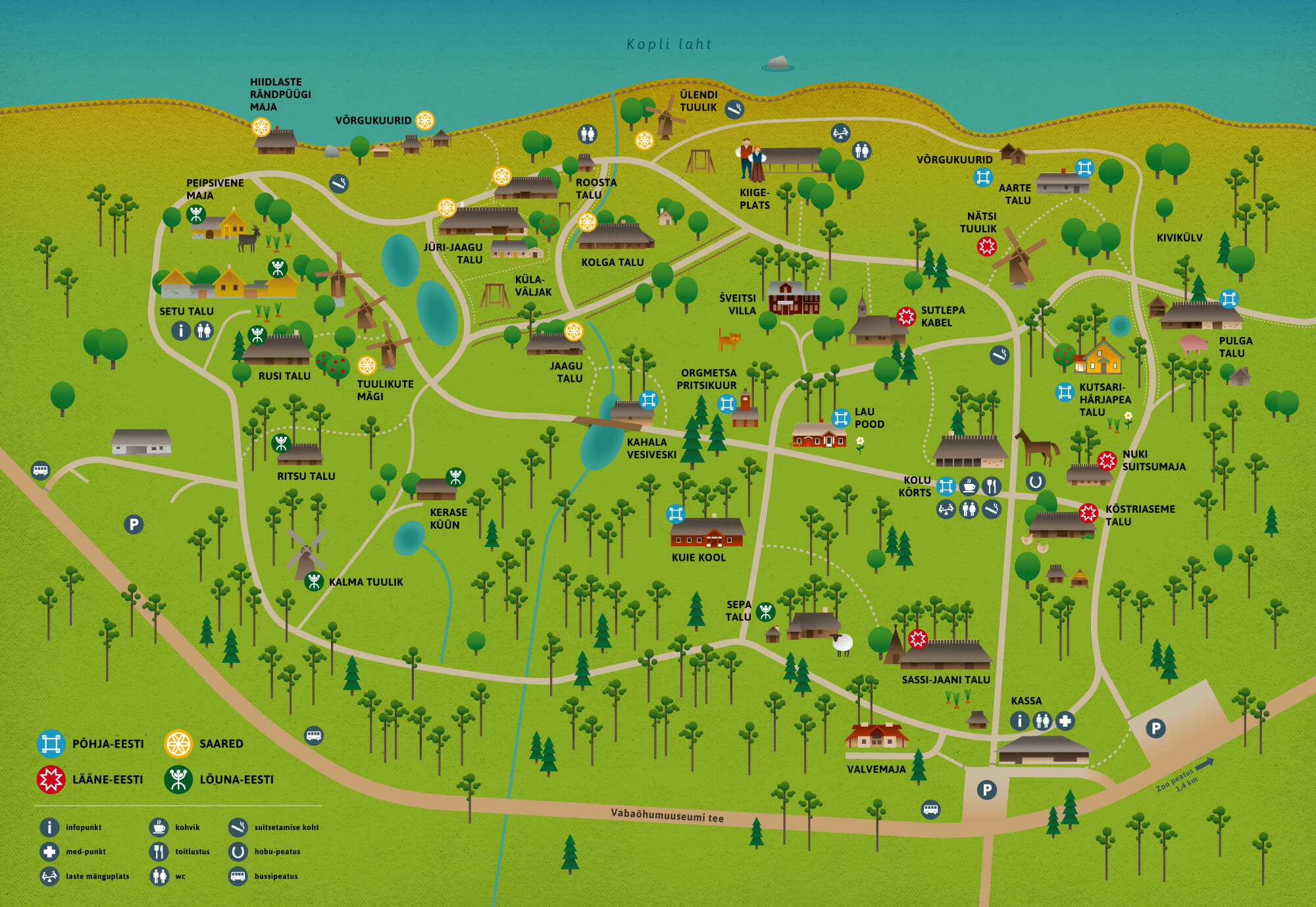 Vabaõhumuuseumi kaart